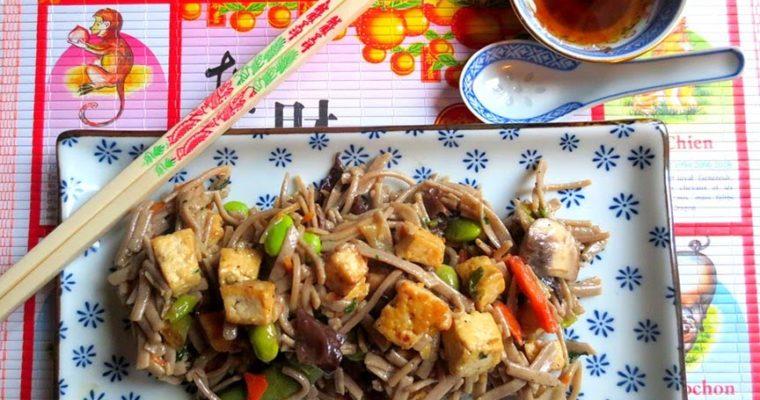Nouilles Sautées au Tofu et aux Légumes (Chine)