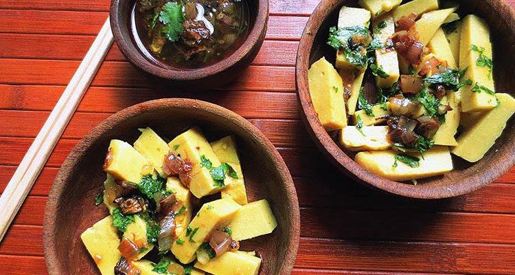 Tofu thoke (salade birmane de tofu au pois chiches)