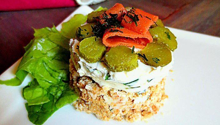 Cheesecake au «Saumon» Vegan