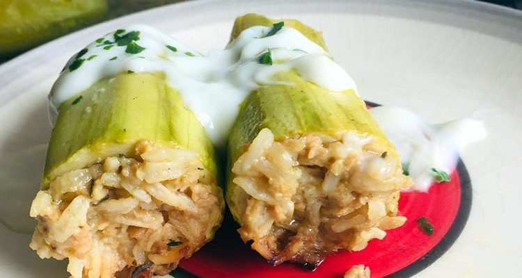Courgettes Farcies, au Yaourt (Syrie)