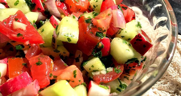 Salata Arabiyyeh, Salade de Tomates et Radis Saoudienne