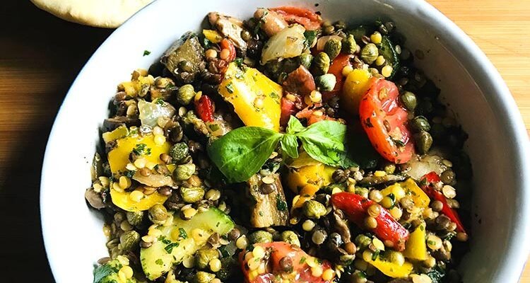 Légumes Grillés & Lentilles, Façon Chypriote