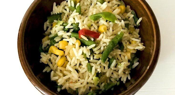 Riz Frit Nigérien Vegan